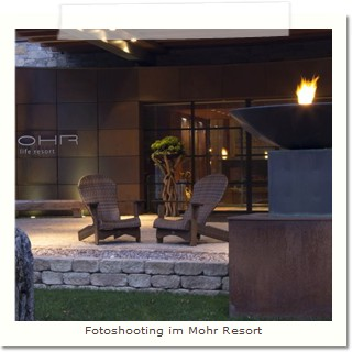 Fotoshooting im Mohr Resort