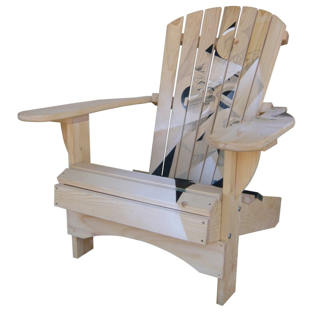 Adirondack Chair Comfort (Natural Graffiti)